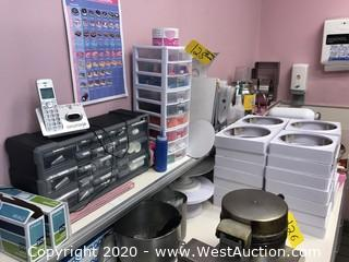 Contents of Counter; Hardware Organizer with Parts, Bins, Topping Warmer, and More