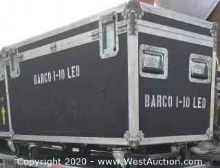 (6) Barco iLite 10 10mm Indoor LED Panels in Road Case