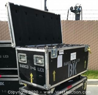 (6) Barco iLite BK6 6mm LED Video Panels in Road Case