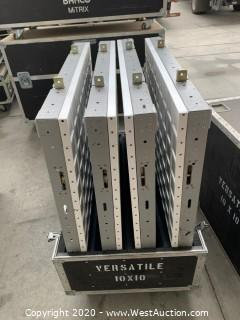 (4) Element Labs S1 SD-10X10 Versa Tiles with Port. in Road Case