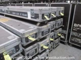 (12) Barco 12' Beams in (3) Road Cases