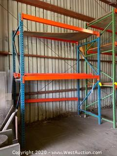 (1) Section of 10' Pallet Racking with (7) Cross Beams