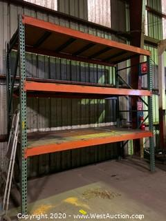 (1) Section of 10' Pallet Racking with (6) Crossbeams