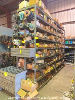 (4) 10ft Metal Shelving Units & Set of Blank Off Plates (No Contents)
