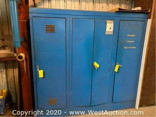 6'x6' Metal Storage Cabinet (No Contents)