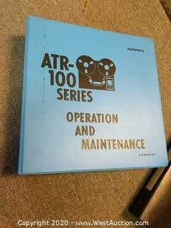 Ampex ATR 102 Manuals
