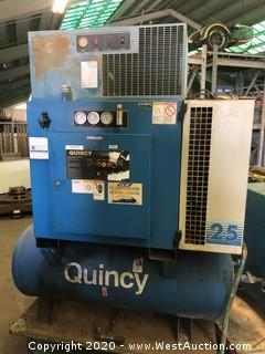 Quincy QSD25A6 25HP Air Compressor with Compressed Air Dryer