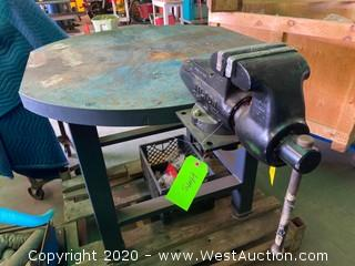 "Steel Table with Wilton 5 3/4"" Vise"