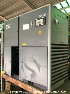 Atlas Copco GA55 75HP Rotary Screw Air Compressor