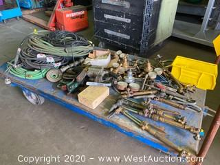 Bulk Lot: Gauges, Torches, Hoses, Cutting Discs, & More