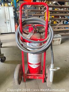 AmerEx 495 50lb ABC Stored Pressure Wheeled Extinguisher Unit
