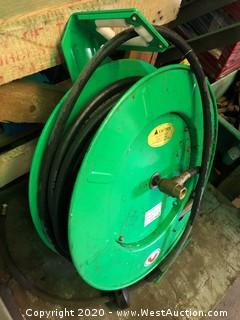Speedaire 70' Spring Driven Hose Reel