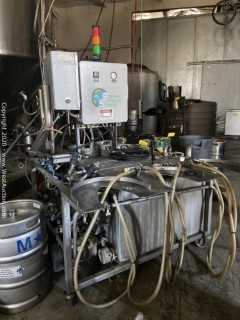 Premier Stainless Systems KGW-SA-3V3-CS Three Station, Semi-Auto, Keg Rinser, Cleaner, Sanitizer