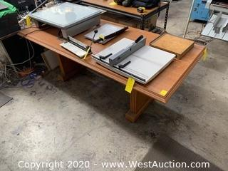 7' Wooden Work Table