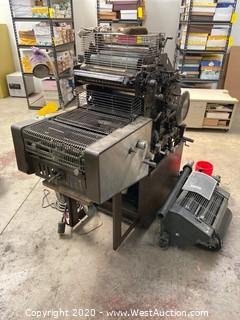 ABDICK 9810 XCS Offset Press (For Parts)