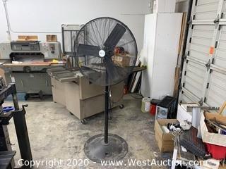 30´ Industrial Electric Pedestal Fan