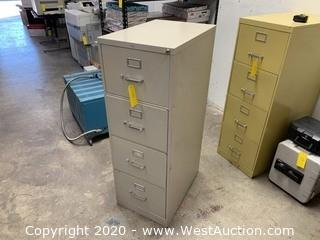 4 Drawer Filing Cabinet with Key to Lock