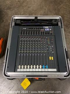 Soundcraft Spirit Folio Ultra Mic Mixing Board In Road Case