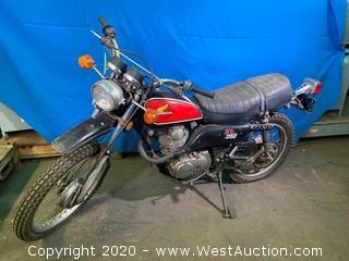 Vintage 1974 Honda XL 250 Motorcycle