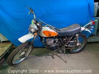 Vintage 1973 Honda Elsinore 250 Motorcycle