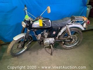 1968 Vintage Yamaha Trailmaster 100 Motorcycle
