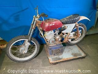 Vintage Bultaco Motorcycle