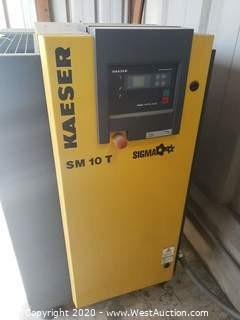 Kaeser SM10T Rotary Screw Compressor with Tank