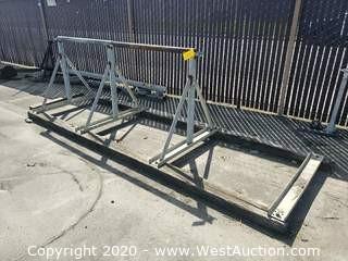 8' Steel Spool Rack with 13' Base