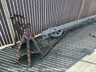 Assorted Steel; Rail and (2) Posts