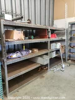 (2) Sections of Racking and Contents