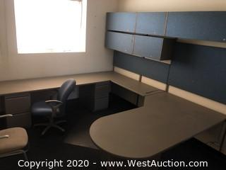 Bulk Lot: Entire Room of Office Furniture