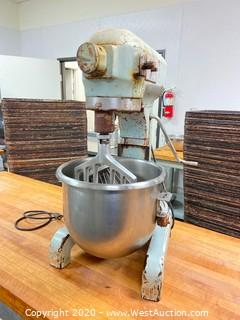 Hobart A-200 Commercial Mixer w/ Mixing Bowl and Attachments