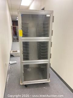 Enclosed  Tri Level Sheet Pan Rack