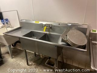 6' Commercial Sink And Contents