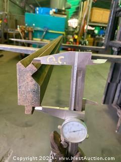 """(1)  Press Brake Tooling 8'x1.5"""""""