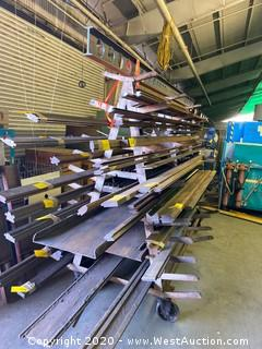 Two-Sided Multi Tier Rolling Press Brake Die Rack with Inside Shelves (rack only)