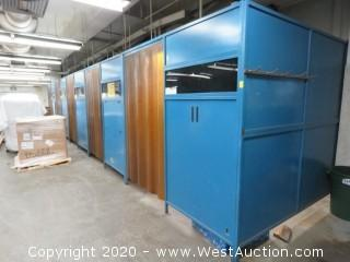 (16) Green Mfg Inc. Welding Booths (Disassembled)
