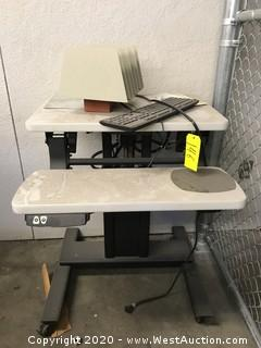 Electric Height Adjustable Computer Station