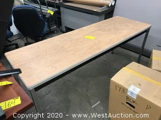 6'x2' Metal Framed Office Table