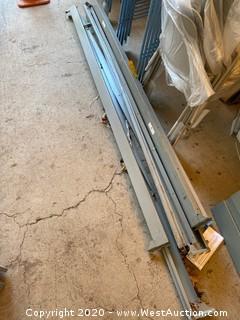 Disassembled 8' Wide Aluminum Rack