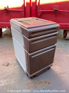 (3) Aluminum 2 Drawer File Cabinets