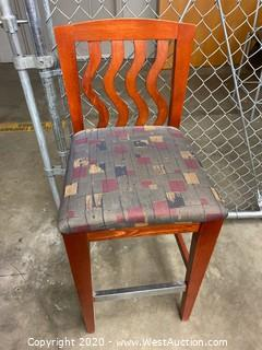 (8) Wood Chairs with Upholstered Seats
