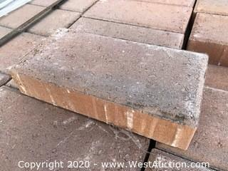 "6"" x 12"" x 60mm Thick Paver Red and Gray Blend"