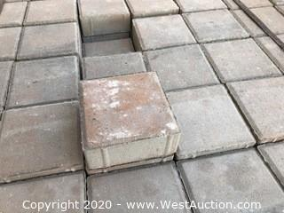 "6"" x 6"" x 60mm Thick Paver Red and Gray Blend"