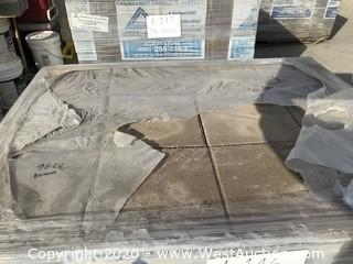 "Ackerstone 12"" x 12"" x 80mm Thick Paver. Through-mix Padre Brown Color."