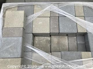 "Ackerstone 3 Color and 2 Size Pattern 4"" x 8"" x 80mm Thick and 8"" x 8"" x 80mm Thick"