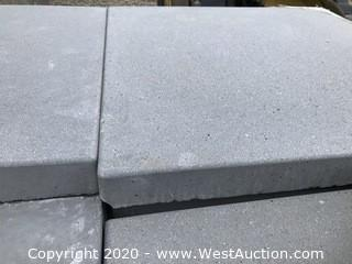 "Stepstone 24"" x 24"" x 2"" Thick Paver. French Gray With Light Sand-blast Finish."