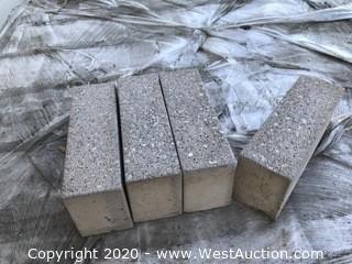 "Stepstone 3"" x 9"" x 4"" Thick Almond Color. Light Sand-blast With Black Sand."