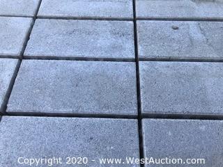 "Pave Stone Light Gray Eco City Lock Permeable 4.5"" x 9"" x 80mm Thick Paver."