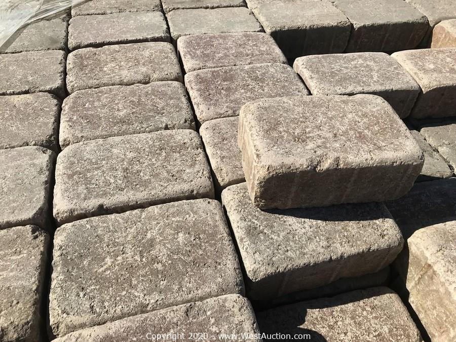 Online Surplus Auction of Pavers from San Jose Paving Contractor